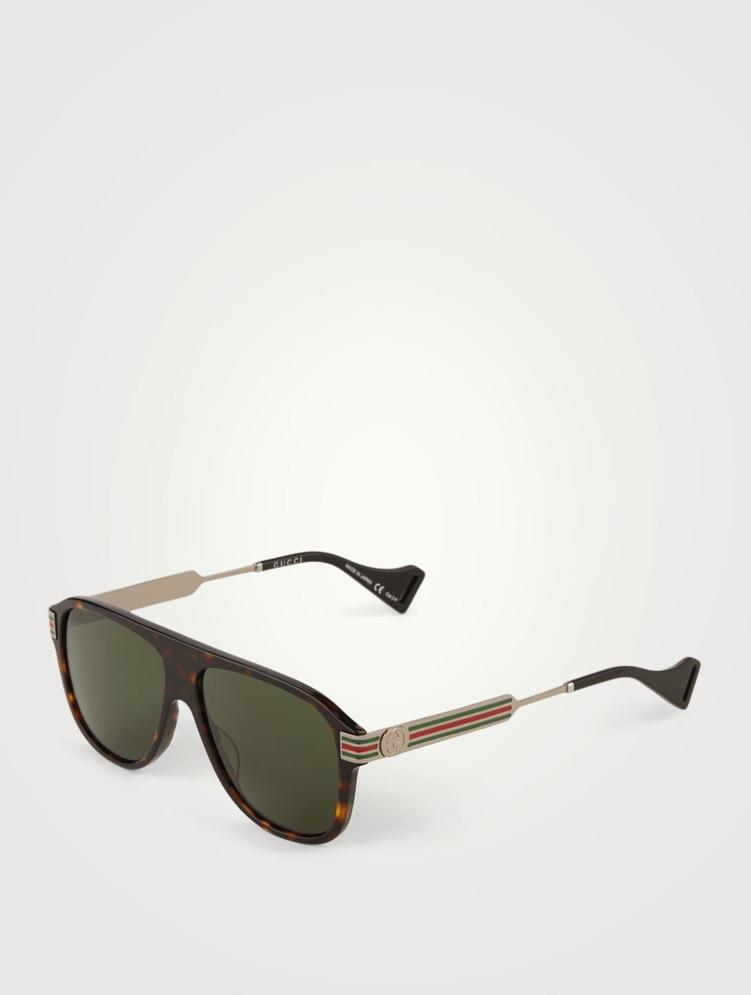 GUCCI Aviator Sunglasses Men's Brown