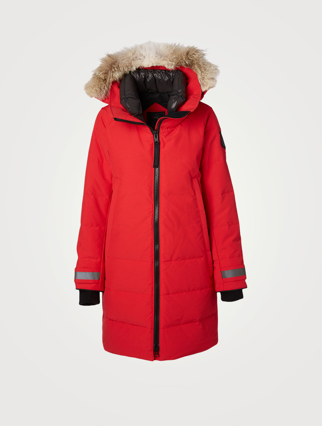 CANADA GOOSE Kenton Black Label Down Parka With Fur Hood Women's Red