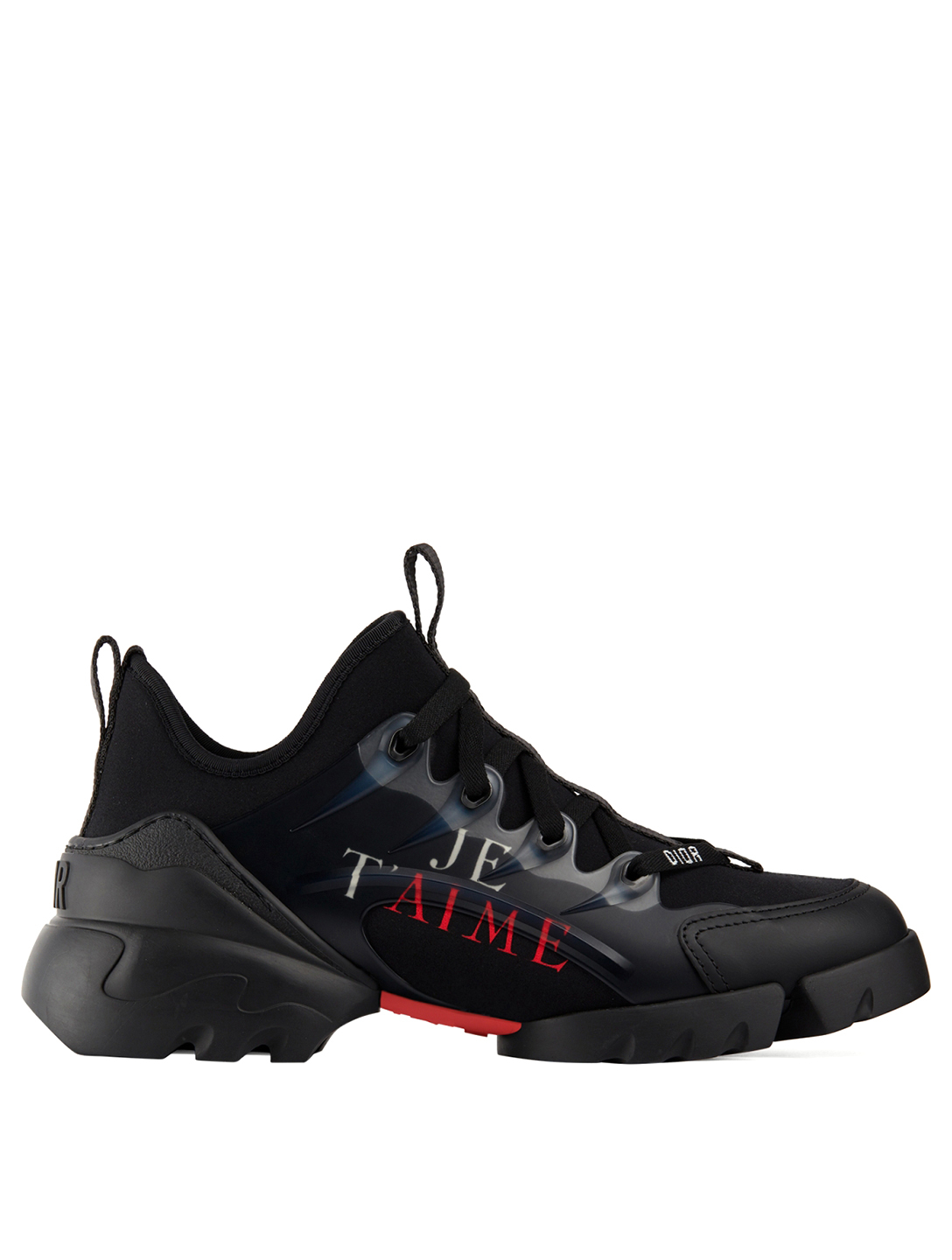 DIOR D-Connect Dioramour Technical Fabric Sneakers Women's Black