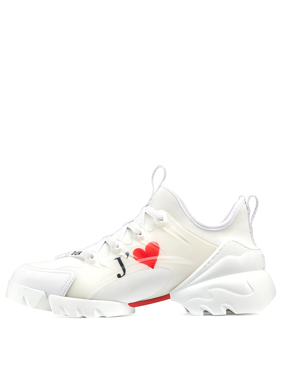 DIOR D-Connect Dioramour Technical Fabric Sneakers Women's White