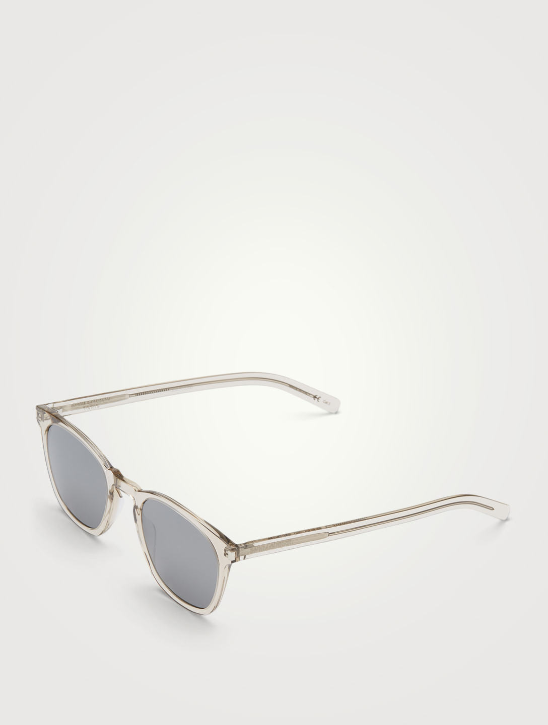 SAINT LAURENT SL 28 Square Sunglasses Men's White
