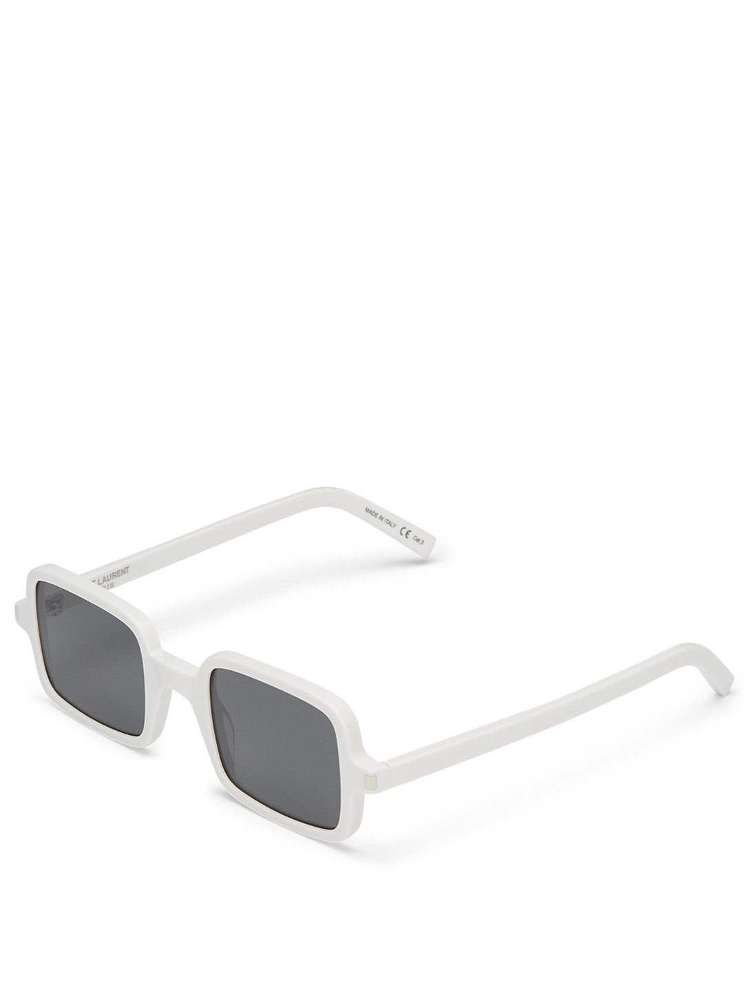 SAINT LAURENT SL 332 Square Sunglasses Men's White