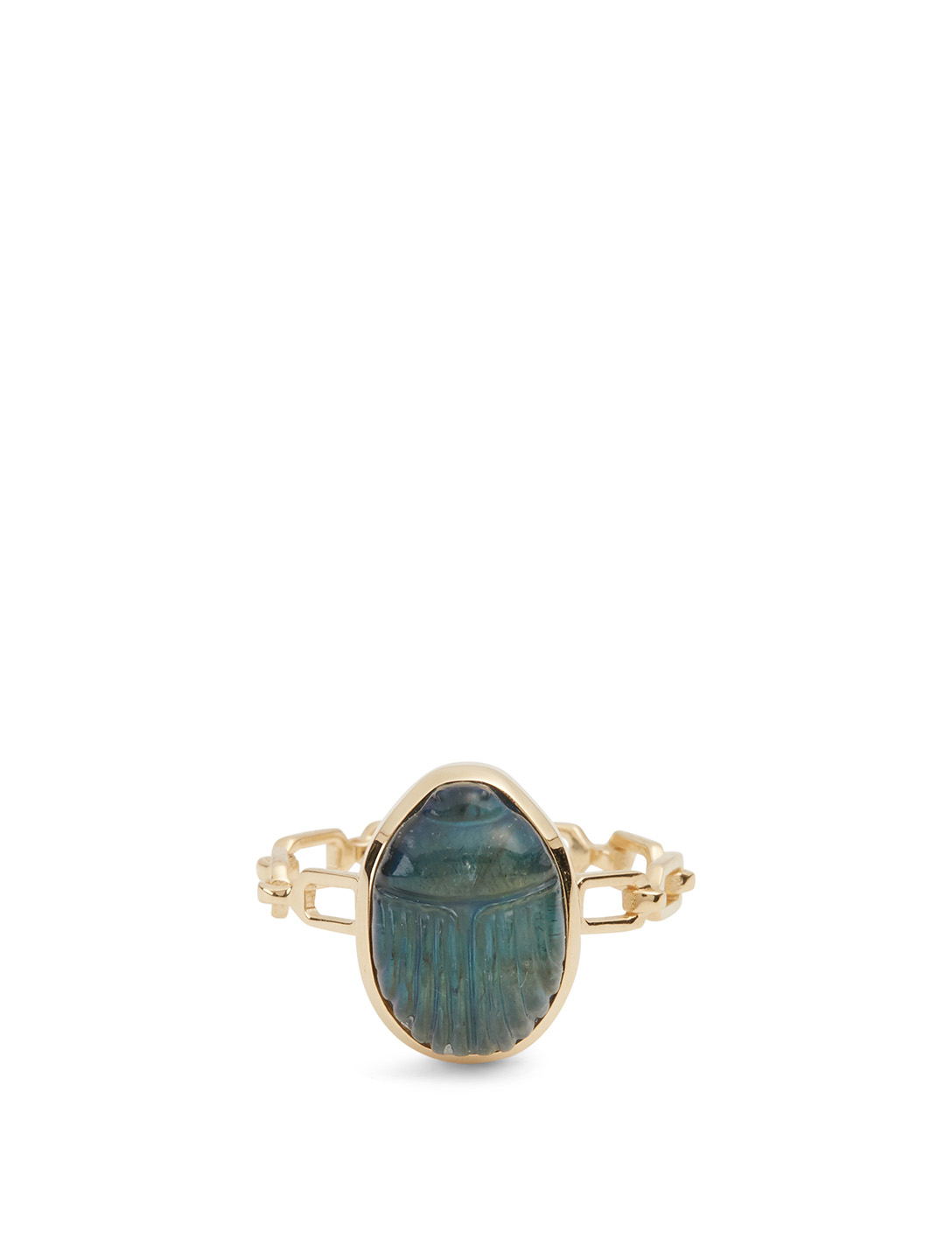 LITO 14K Gold Ring With Labradorite Women's Metallic