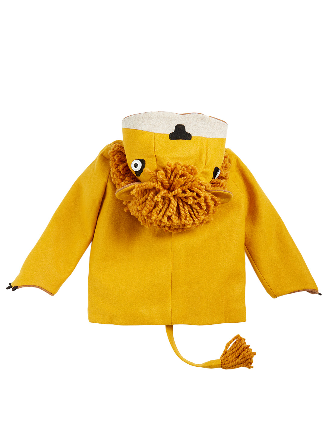 LITTLE GOODALL Kids' Luxe Lion Wool Coat H Project Yellow