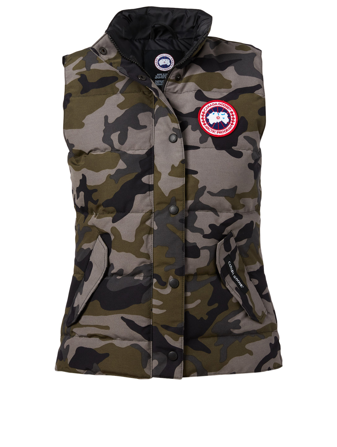CANADA GOOSE Gilet Freestyle en duvet à imprimé camouflage