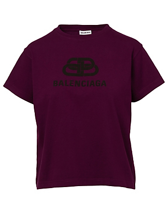 BALENCIAGA Cotton Logo T-Shirt Women's Purple