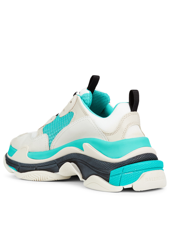 ssense exclusive balenciaga triple s sneakers blue yellow 00361a3