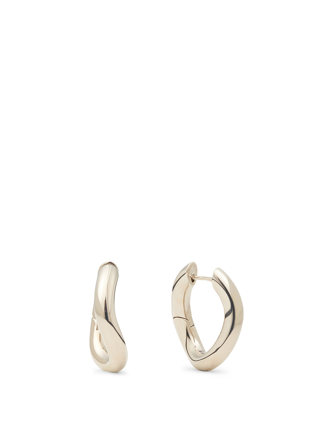BALENCIAGA XS Loop Earrings Women's Metallic