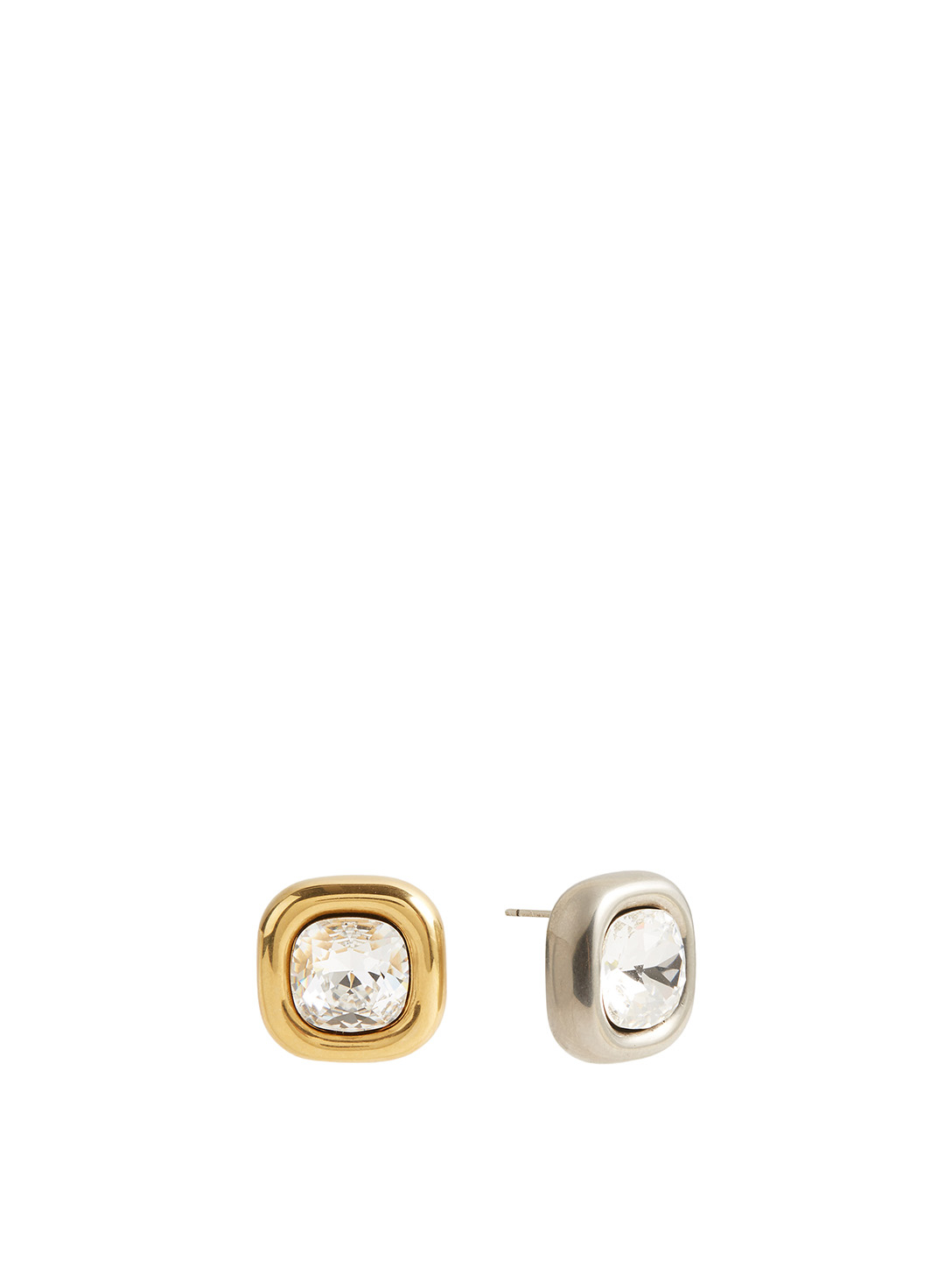 BALENCIAGA XS Dallas Crystal Stud Earrings Women's Metallic