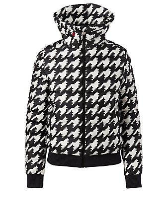 PERFECT MOMENT Queenie Down Puffer Jacket In Houndstooth Women's Multi