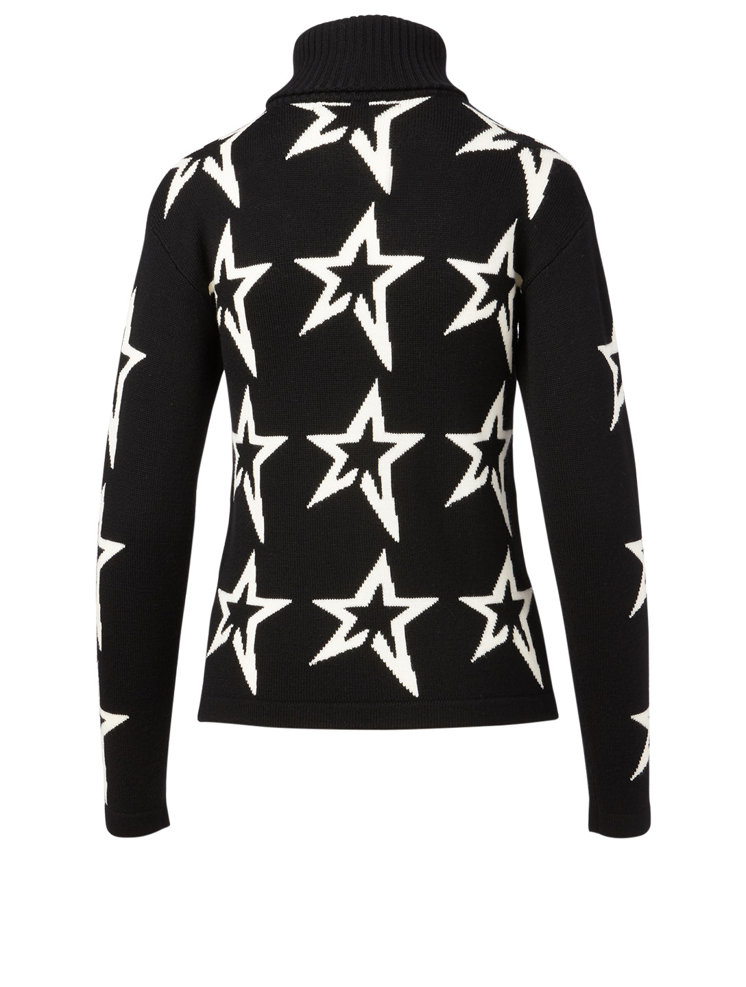 PERFECT MOMENT Wool Star Dust Turtleneck Sweater Women's Black