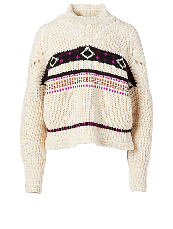ISABEL MARANT Caleen Wool-Blend Sweater Women's White