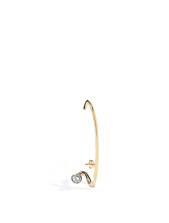 KATKIM Crescendo Flare 18K Gold Right Earring With Diamond Women's Metallic