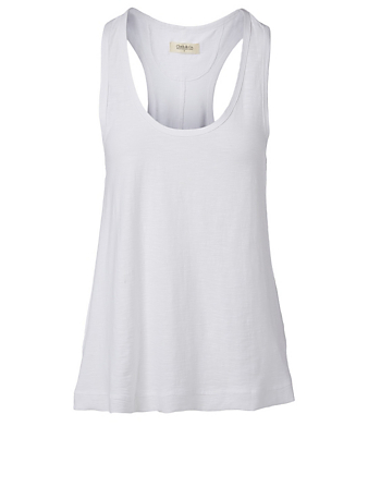 CLOTH & CO. Organic Cotton Slub Jersey Tank Top H Project White
