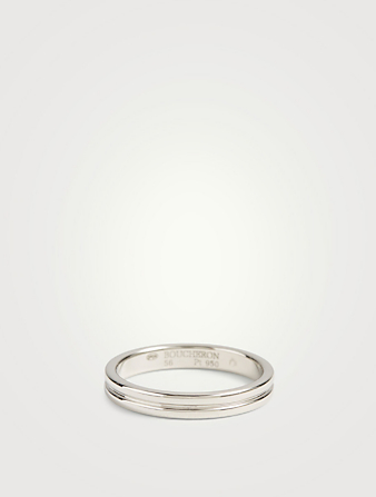 BOUCHERON Small Godron Platinum Wedding Band Women's Metallic