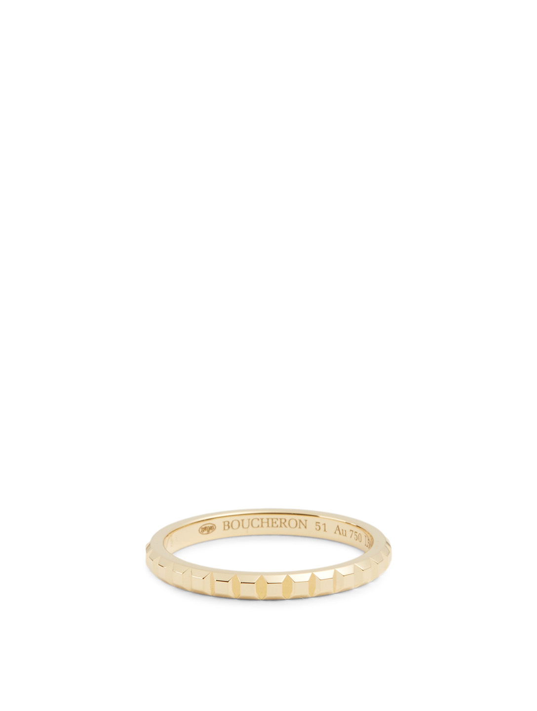 BOUCHERON Mini Clou De Paris Gold Wedding Band Women's Metallic