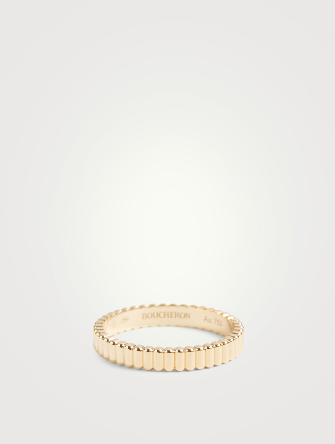 BOUCHERON Grosgrain Gold Wedding Band Women's Metallic