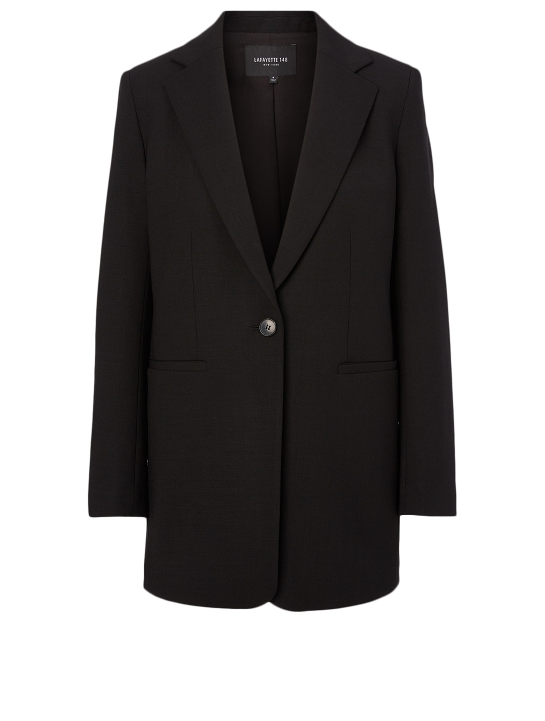 LAFAYETTE 148 NEW YORK Beau Wool-Blend Blazer Women's Black
