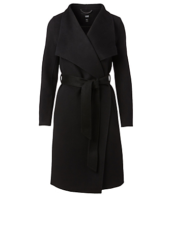 LINE Meghan Wool Wrap Coat Women's Black