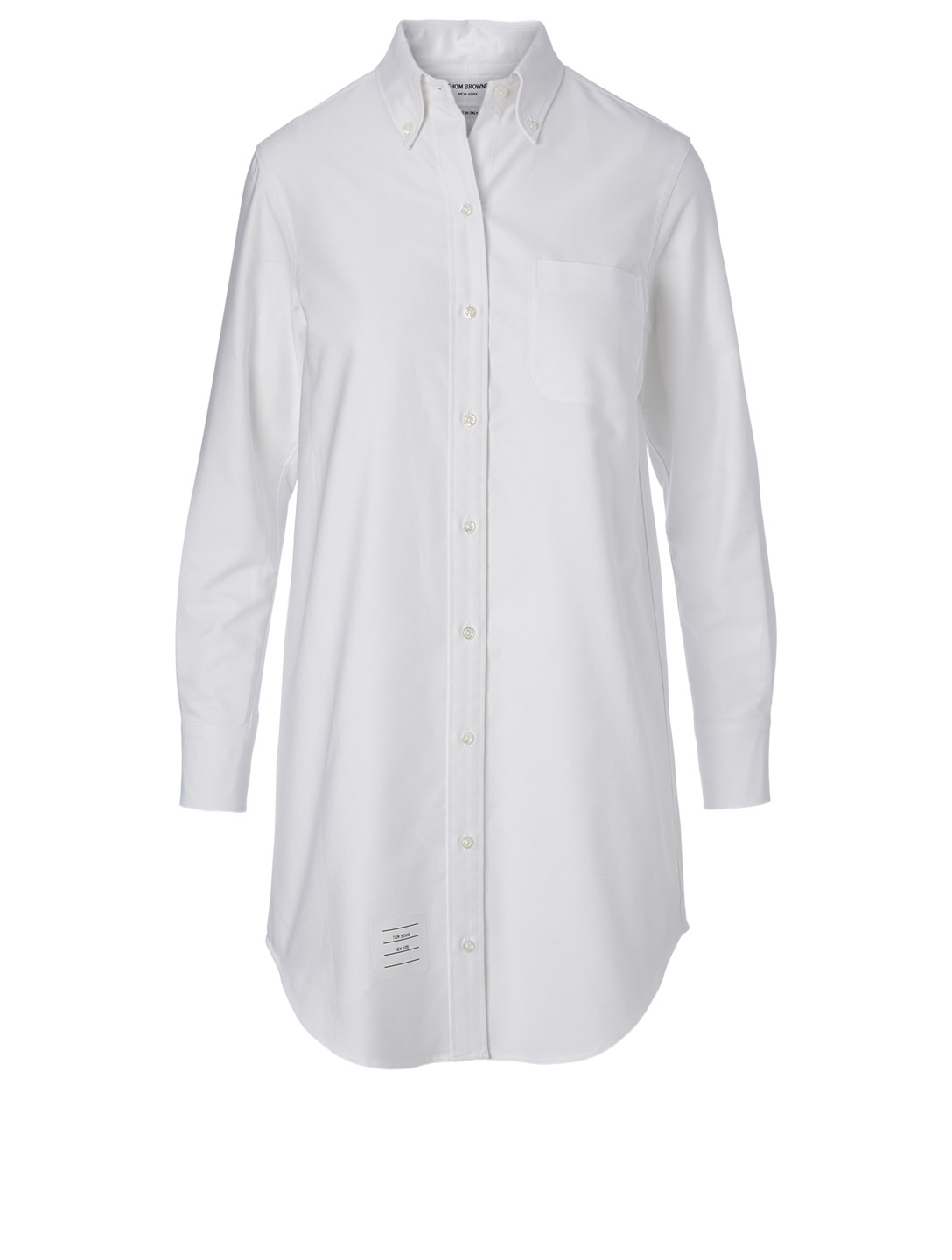 THOM BROWNE Cotton Long-Sleeve Shirt Dress Women's White