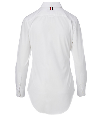 THOM BROWNE Cotton Long-Sleeve Shirt Women's White