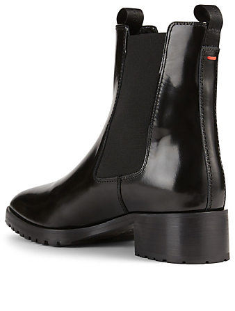AEYDE Karlo Leather Chelsea Boots Women's Black