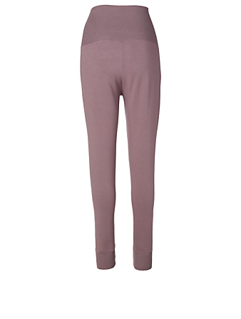 BEYOND YOGA Cozy Fleece™ Foldover Sweatpants Women's Purple