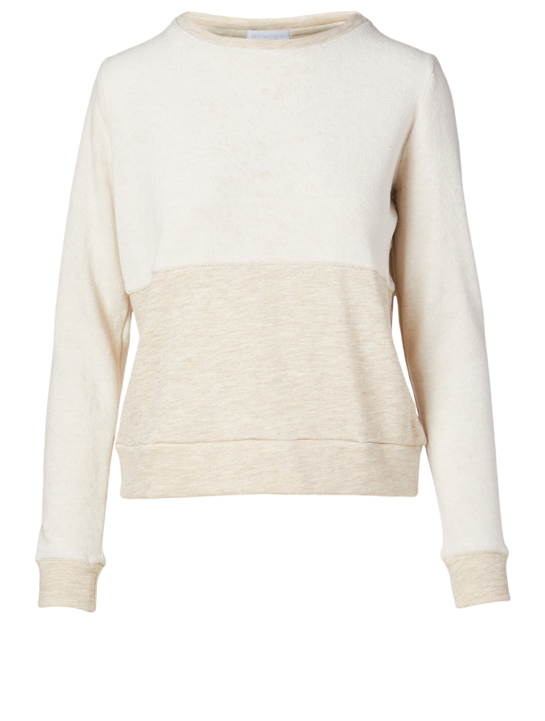 BEYOND YOGA Cross Path Sweater Women's Beige