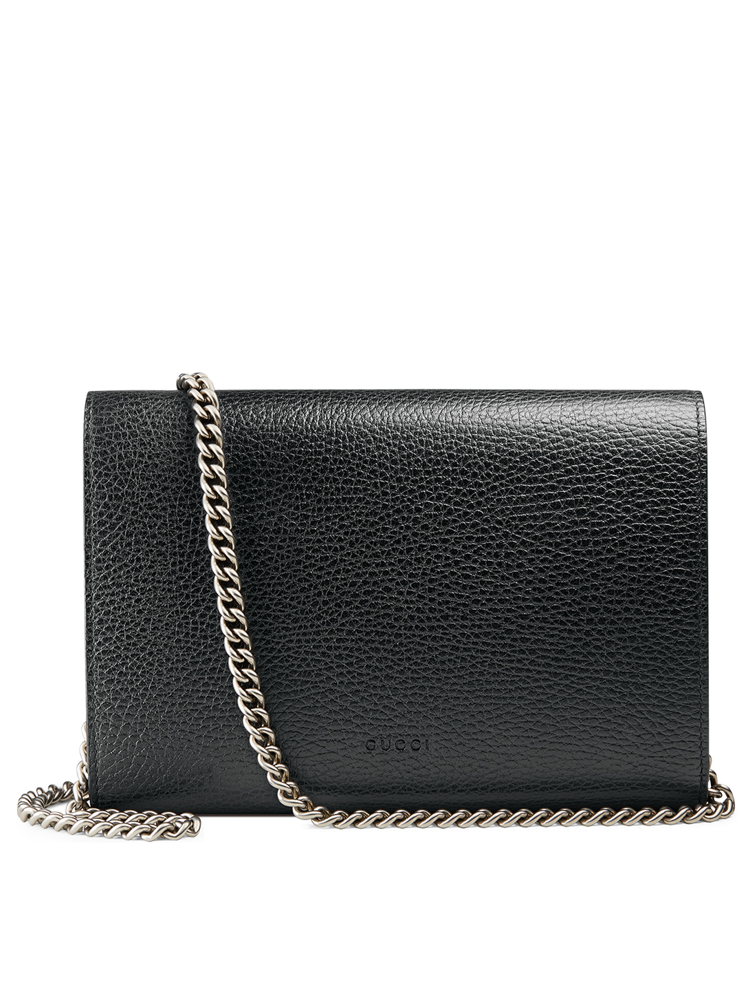 GUCCI Dionysus Leather Chain Wallet Bag Women's Black