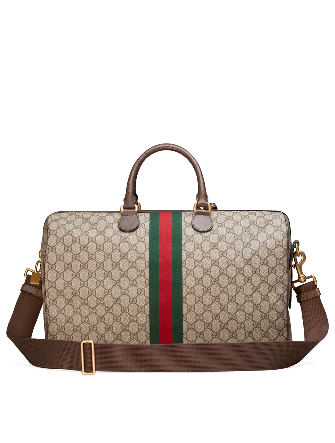 GUCCI Medium Ophidia GG Supreme Carry-On Duffle Bag Women's Beige