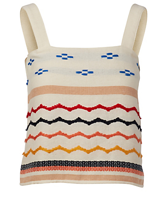 ESCVDO Lia Knit Tank Top H Project White