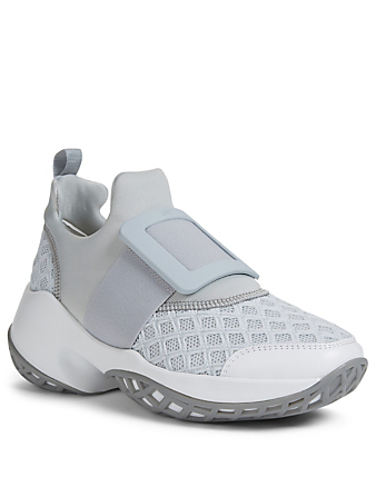 ROGER VIVIER Viv' Run Mesh Neoprene Sneakers Women's Grey