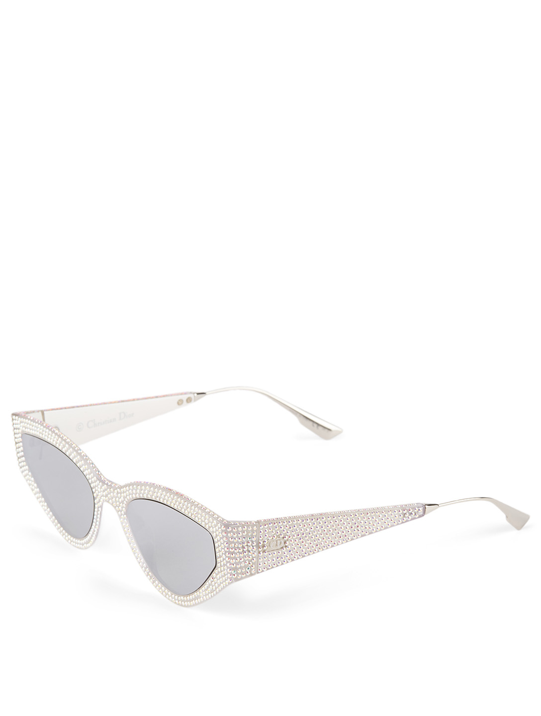 DIOR CatStyleDior1S Cat Eye Sunglasses With Crystals Women's White