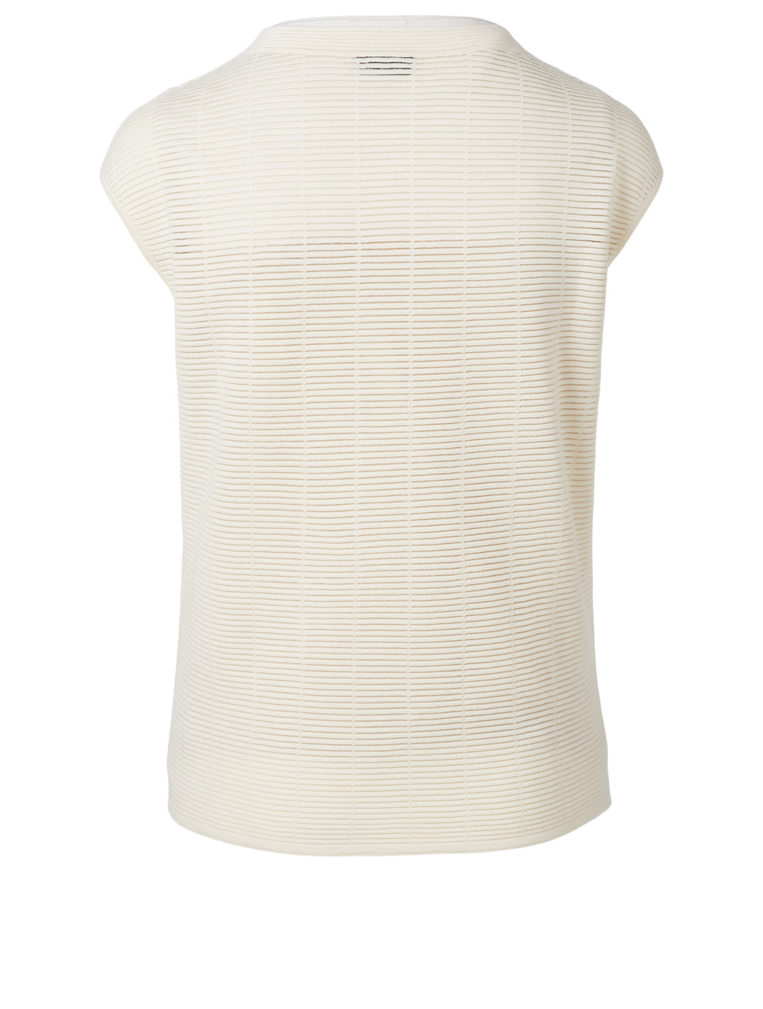 AKRIS Wool And Silk Roundneck Top Women's White