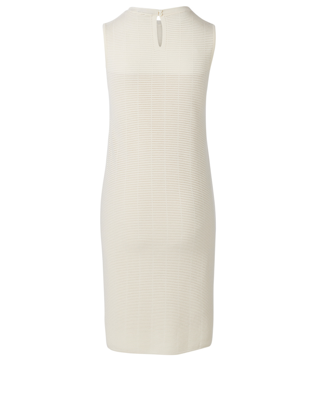 AKRIS Wool And Silk Sleeveless Dress Women's White