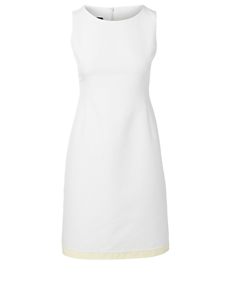 AKRIS Cotton And Silk Sleeveless Dress Women's Grey