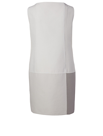 AKRIS Cotton And Silk Shift Dress Women's Grey
