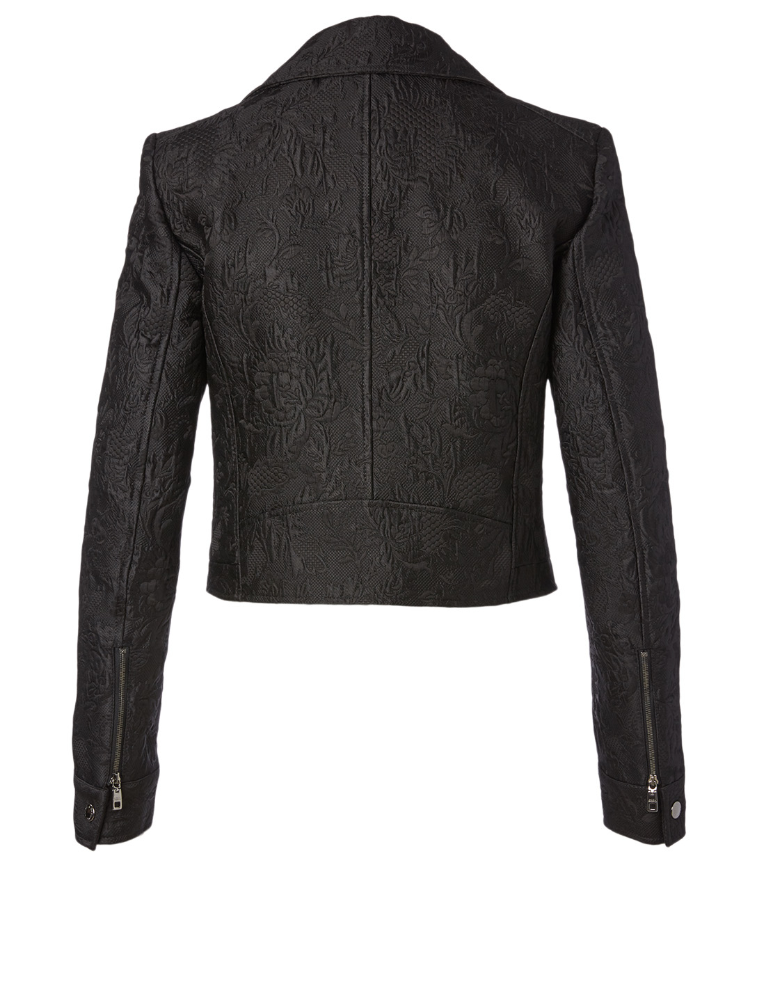 DOLCE & GABBANA Cotton And Silk Floral Jacquard Jacket Women's Black