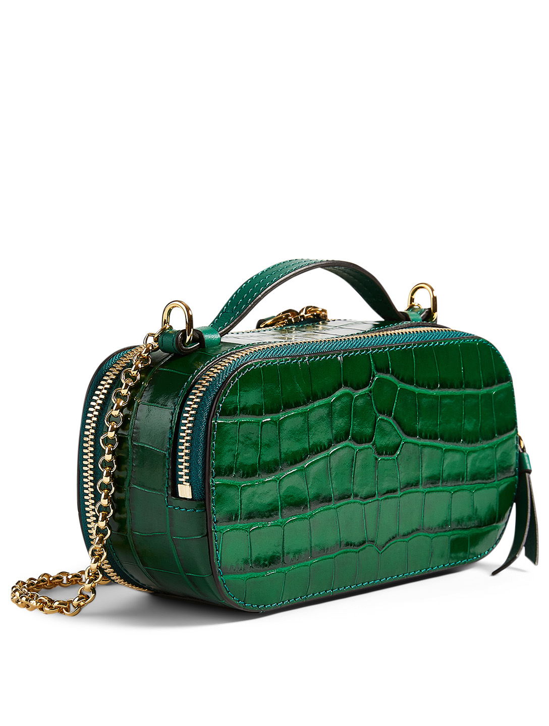 CHLOÉ Chloé C Leather Case Bag Women's Green