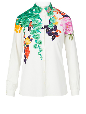 ETRO Cotton Stretch Shirt Women's White