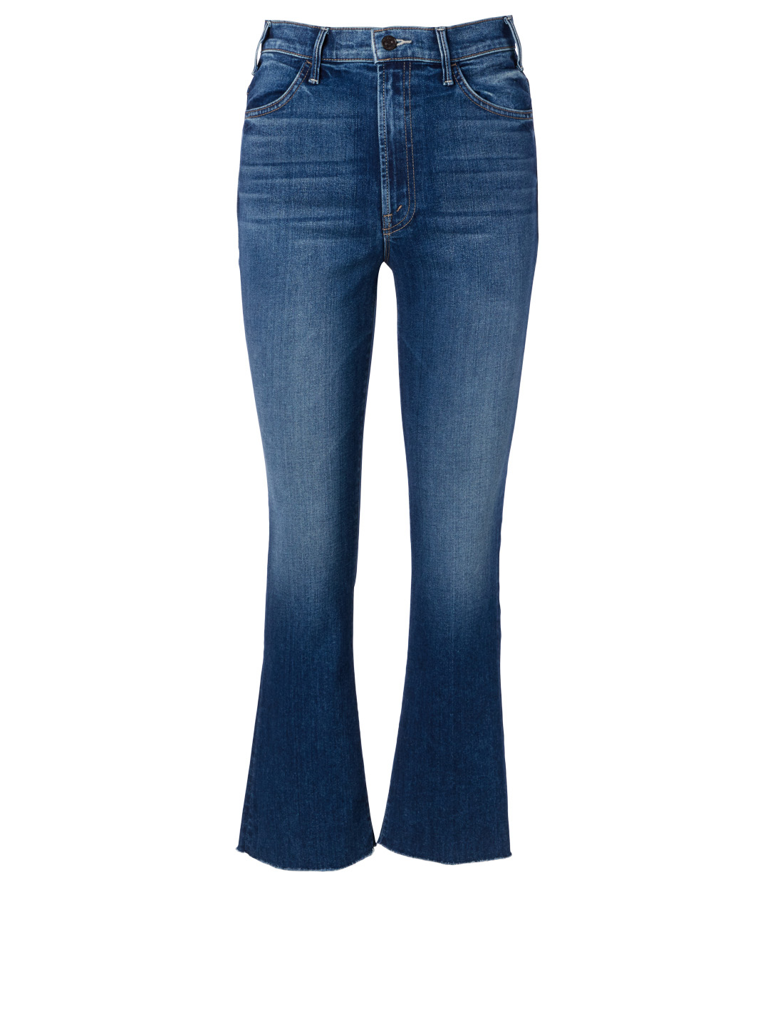 MOTHER Hustler Jeans With Ankle Fray Women's Blue