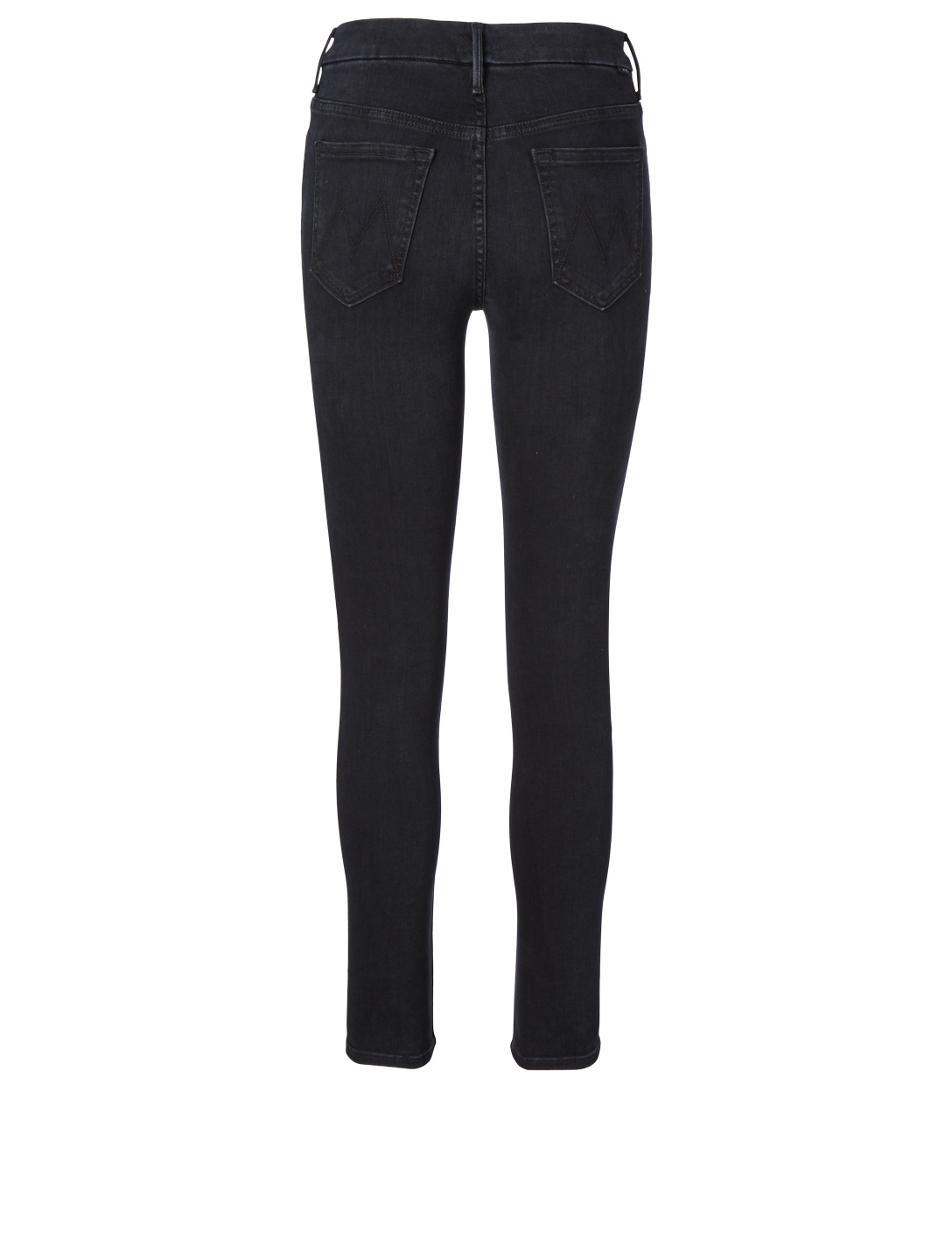 MOTHER High-Waisted Looker Jeans Women's Black