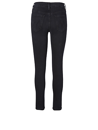 MOTHER High-Waisted Looker Jeans Femmes Noir