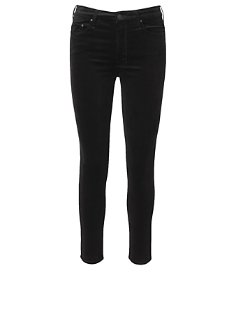 MOTHER High-Waisted Looker Ankle Jeans Women's Black