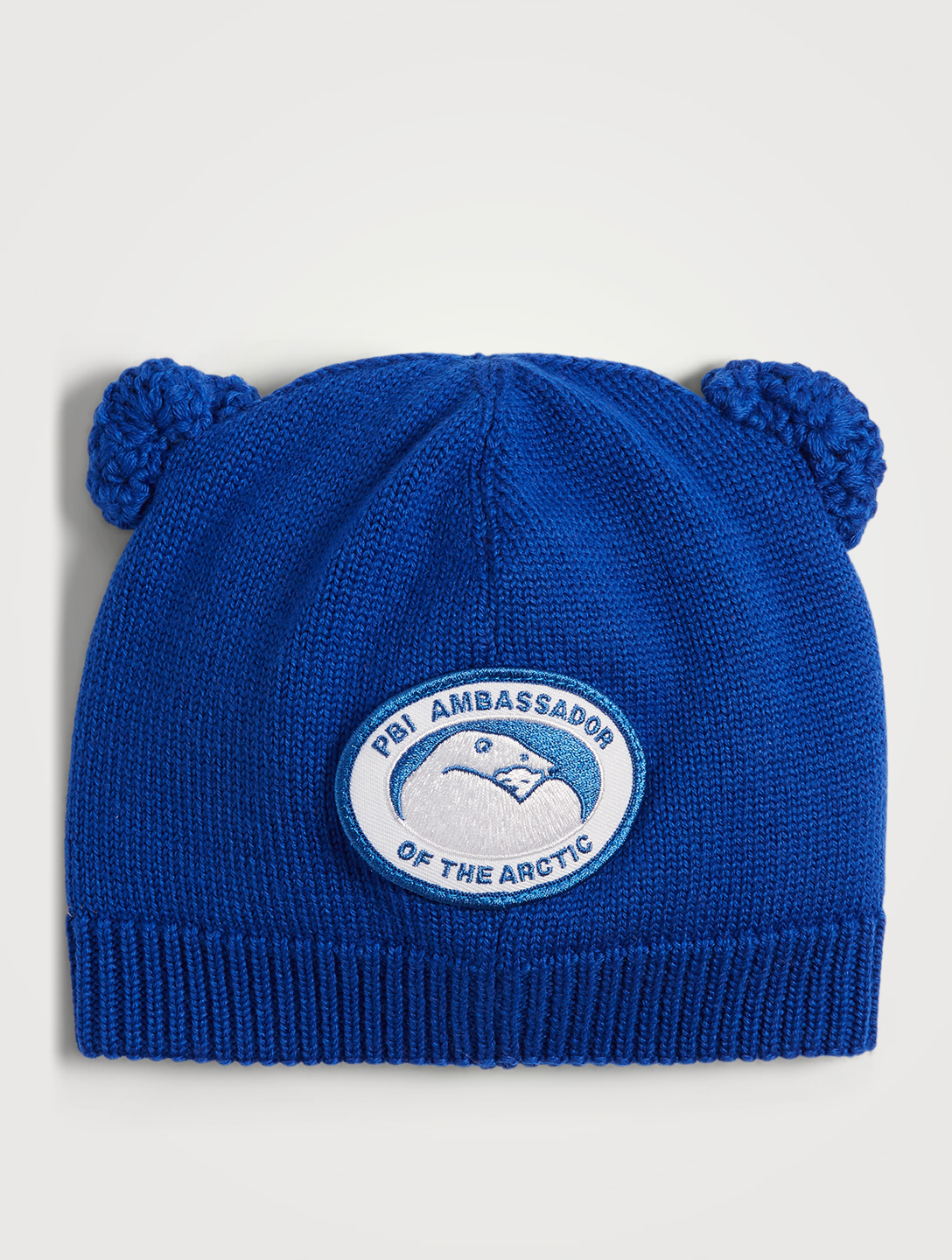 CANADA GOOSE Baby Wool Cub Hat Kids Blue