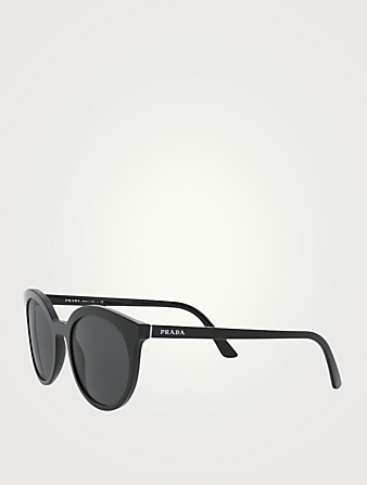 PRADA Round Sunglasses Women's Black