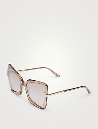 TOM FORD Gia Butterfly Sunglasses Women's Beige