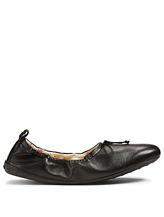 TOD'S Leather Ballet Flats Women's Black