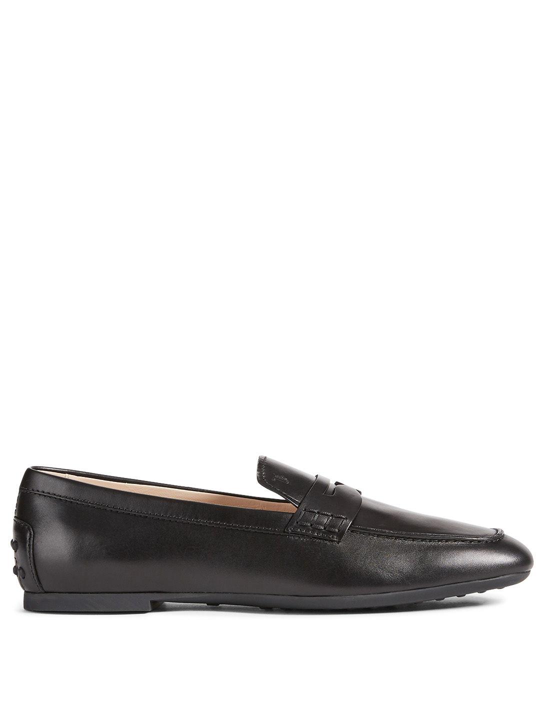 TOD'S Leather Loafers Women's Black
