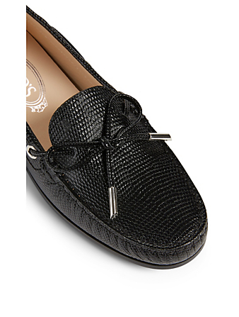 TOD'S City Gommini Leather Driving Shoes Women's Black